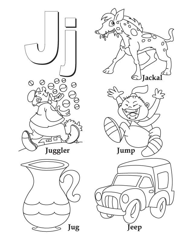 612x792 My A To Z Coloring Book Letter J Page Download Free