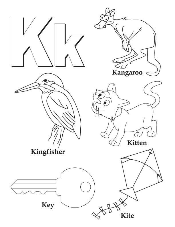 612x792 K Coloring Pages
