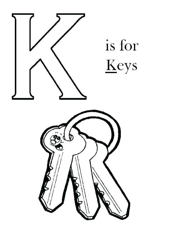 580x773 Letter K Coloring Pages For Preschoolers Letter K Coloring Sheets