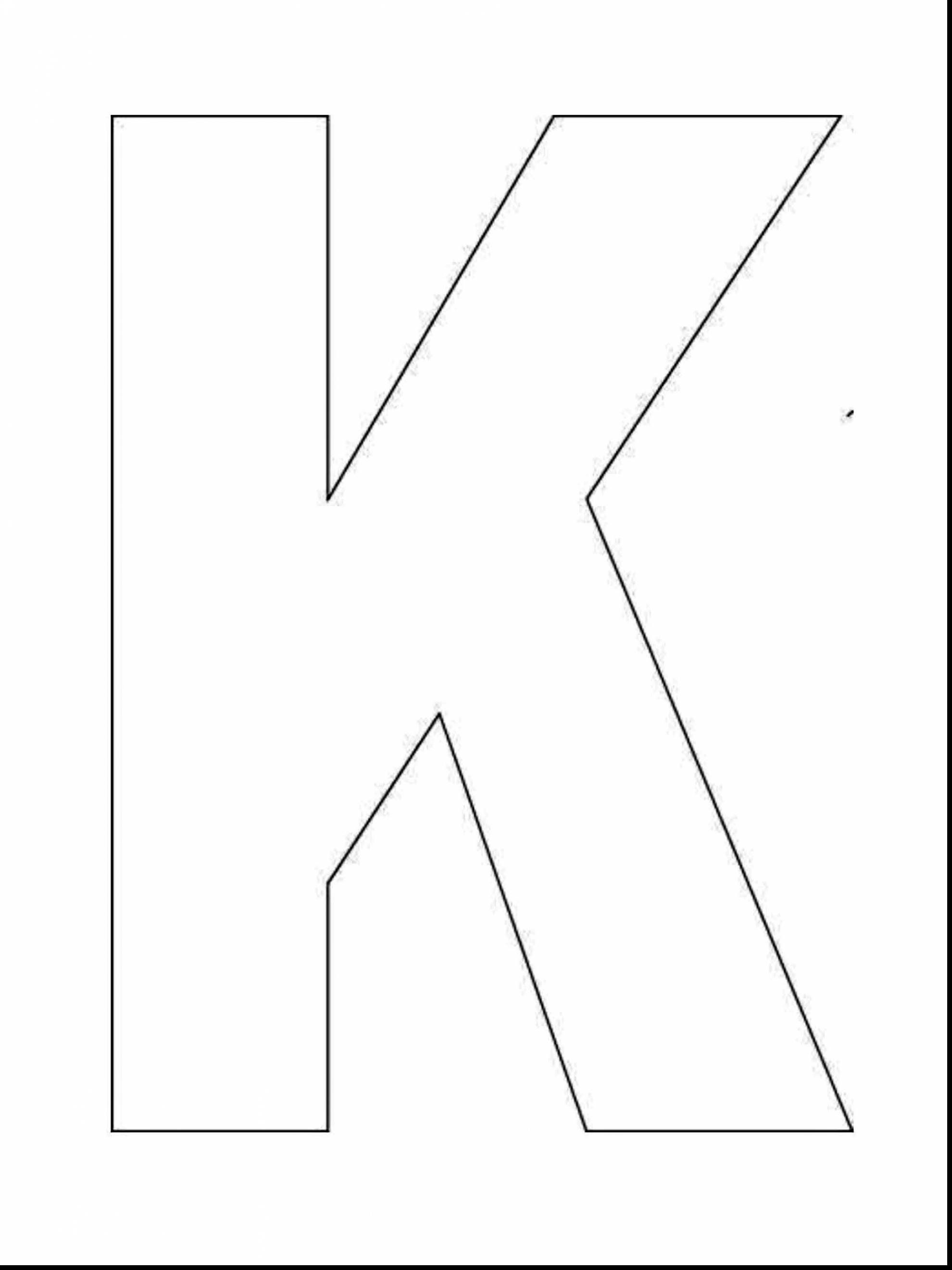 1980x2640 Marvelous Printable Letter Template With Letter K Coloring Page