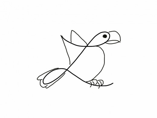520x390 How To Turn A Cursive L Into A Bird Drawing Drawing Skills