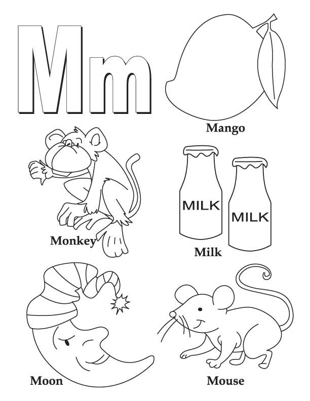612x792 Lovely Letter M Coloring Pages 53 For Online With Letter M