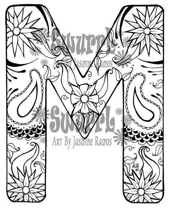 570x701 M Coloring Pages Free Letter People M Coloring Pages P