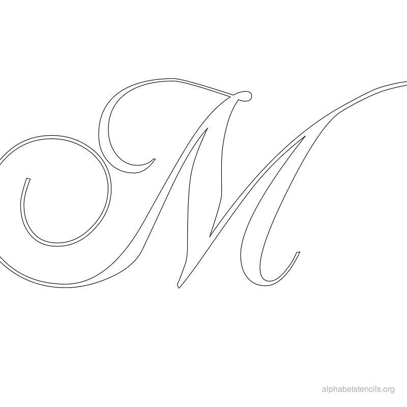 800x800 Alphabet Stencils M Printable Stencils Alphabet M Alphabet