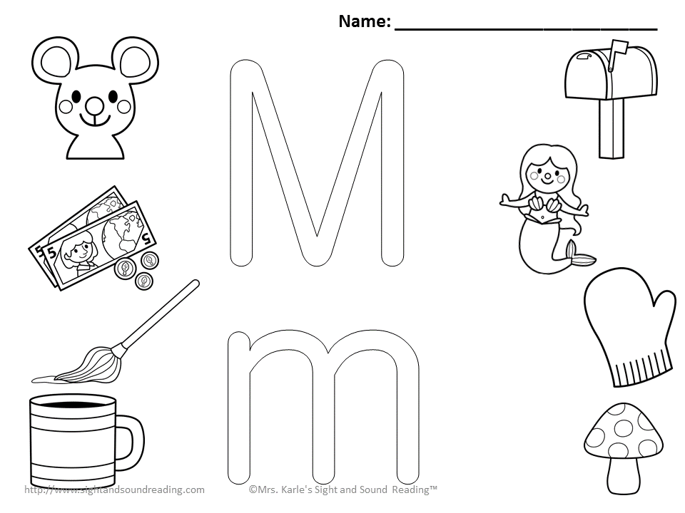 960x720 Selected Letter M Coloring Page Pages
