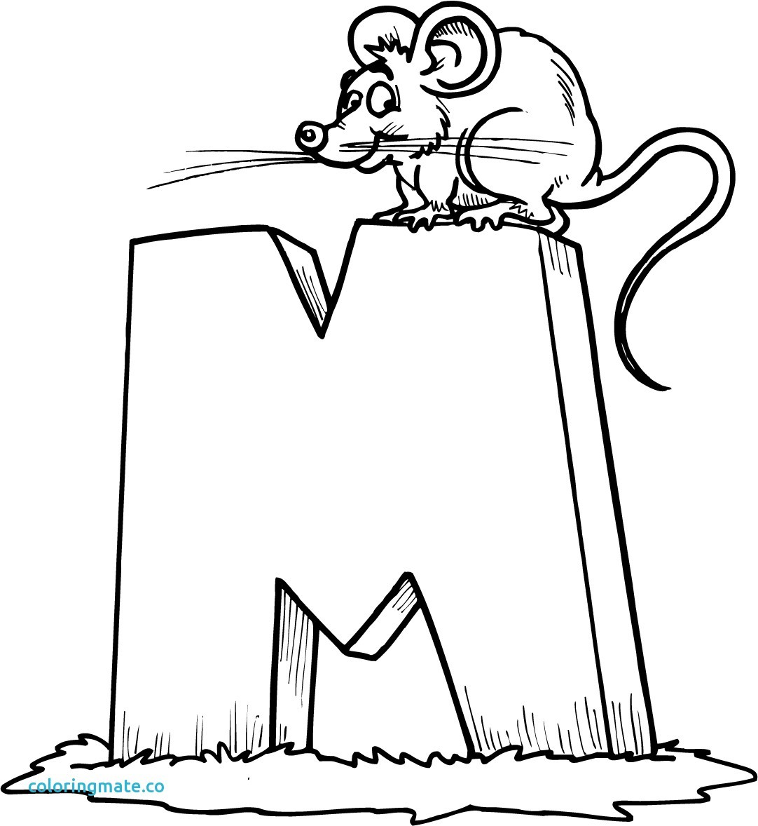 1082x1178 Coloring Pages Of The Letter M New M Coloring Page Unique Free