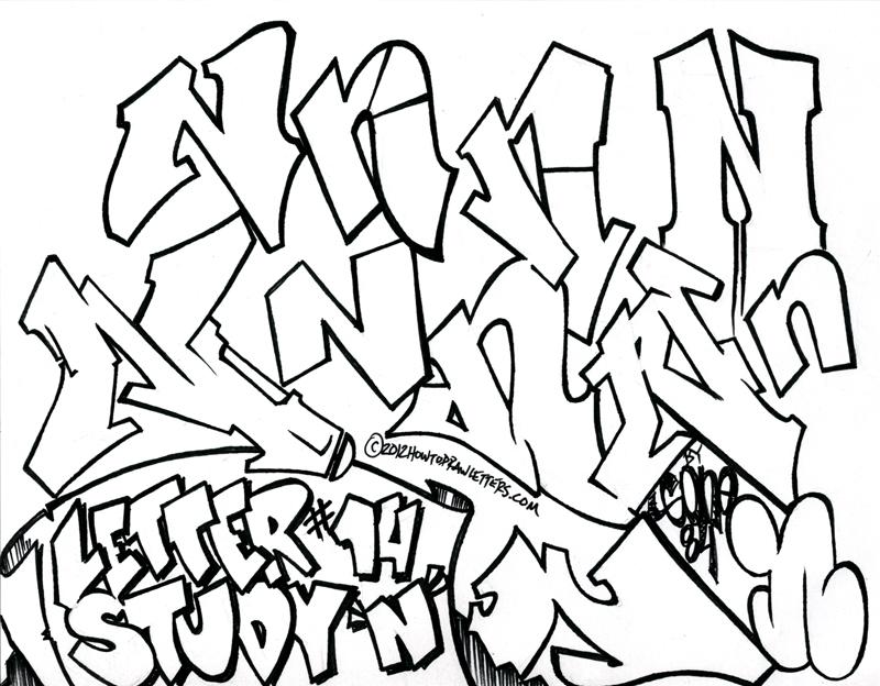 800x624 Graffiti Letter N Art Graffiti, Graffiti Alphabet