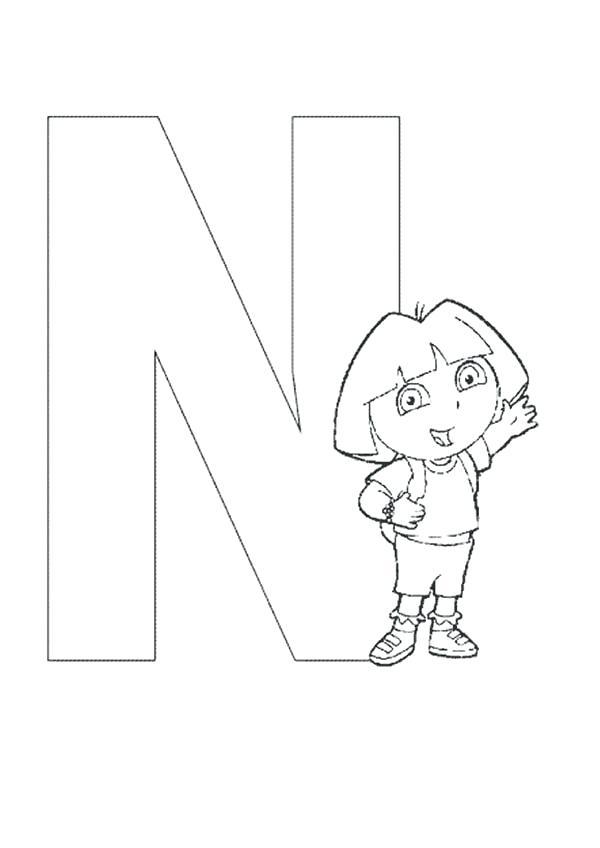 600x848 Letter N Coloring Coloring Letter S N Alphabet Cool Pages Alphabet
