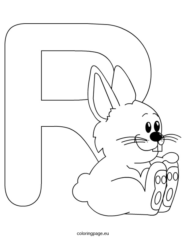 595x804 Letter R Coloring Page