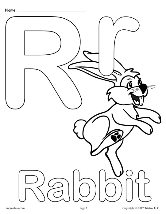 541x700 Letter R Alphabet Coloring Pages