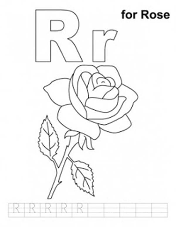600x774 Letter R Coloring Pages Preschool Printable In Cure Draw Is