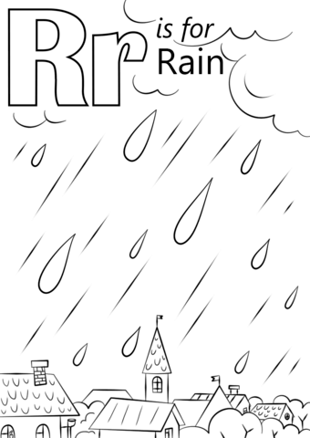340x480 Letter R Is For Rain Coloring Page Free Printable Coloring Pages