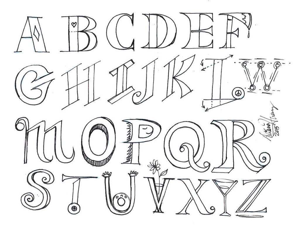 1015x788 Draw Letters 2 By Diana Huang