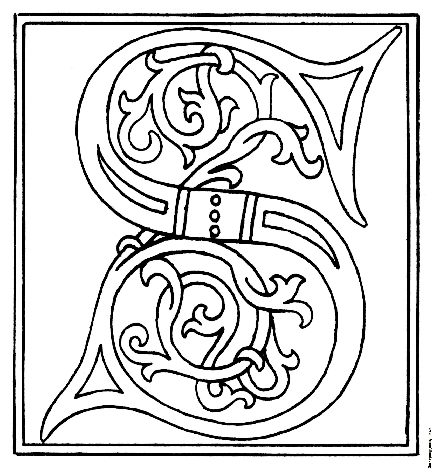1669x1808 Clipart Initial Letter S From Late 15th Century Printed Book