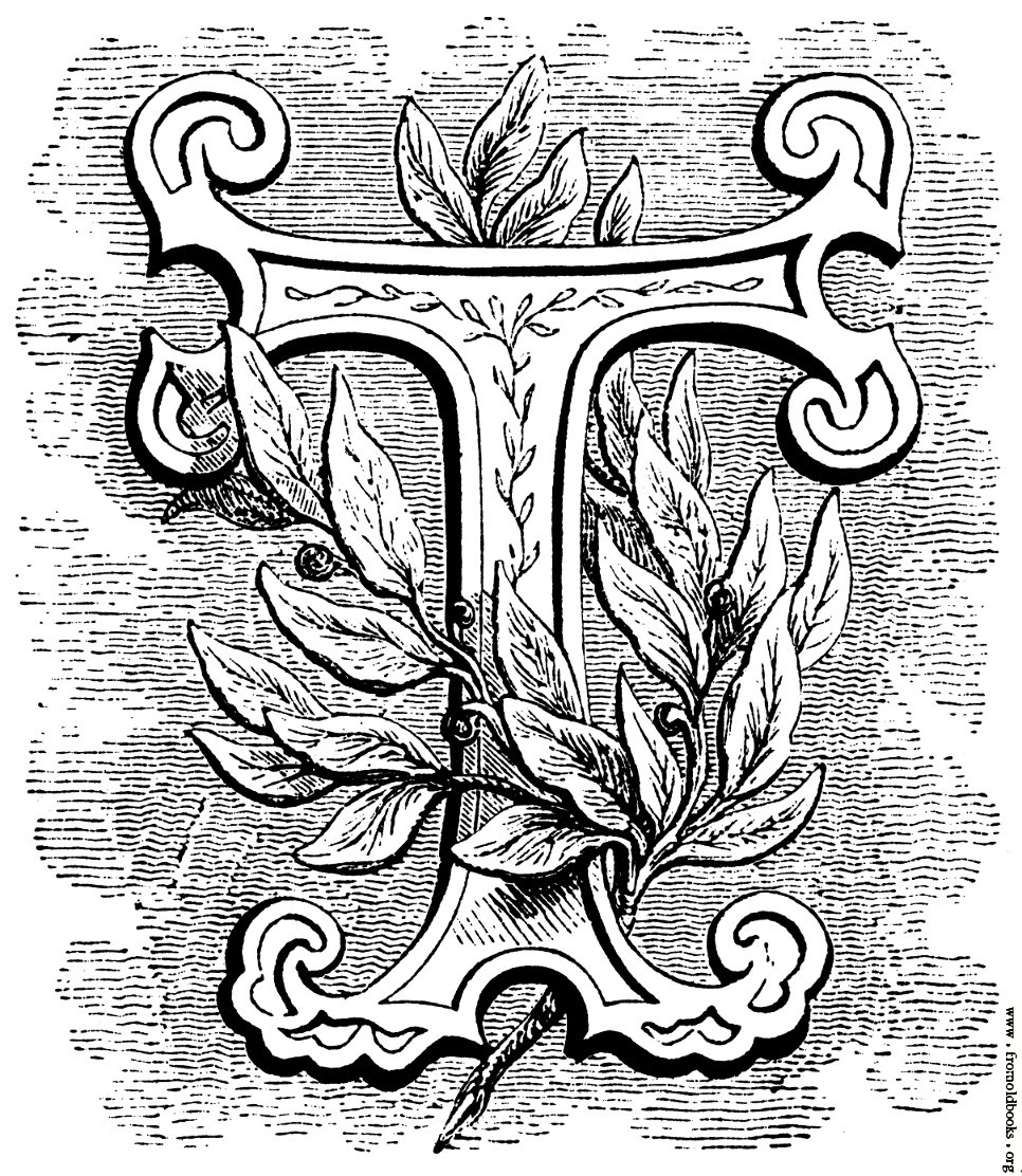 966x1112 Floriated Initial Letter