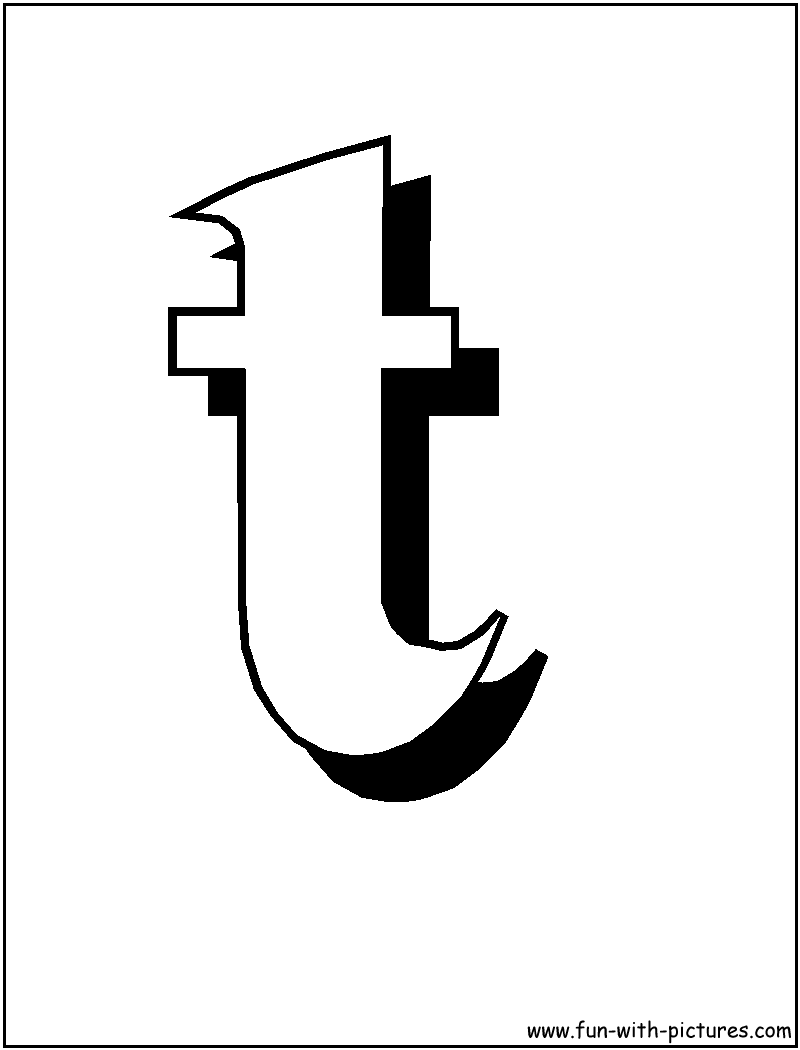 Letter T Drawing At Getdrawings Com Free For Personal Use Letter T