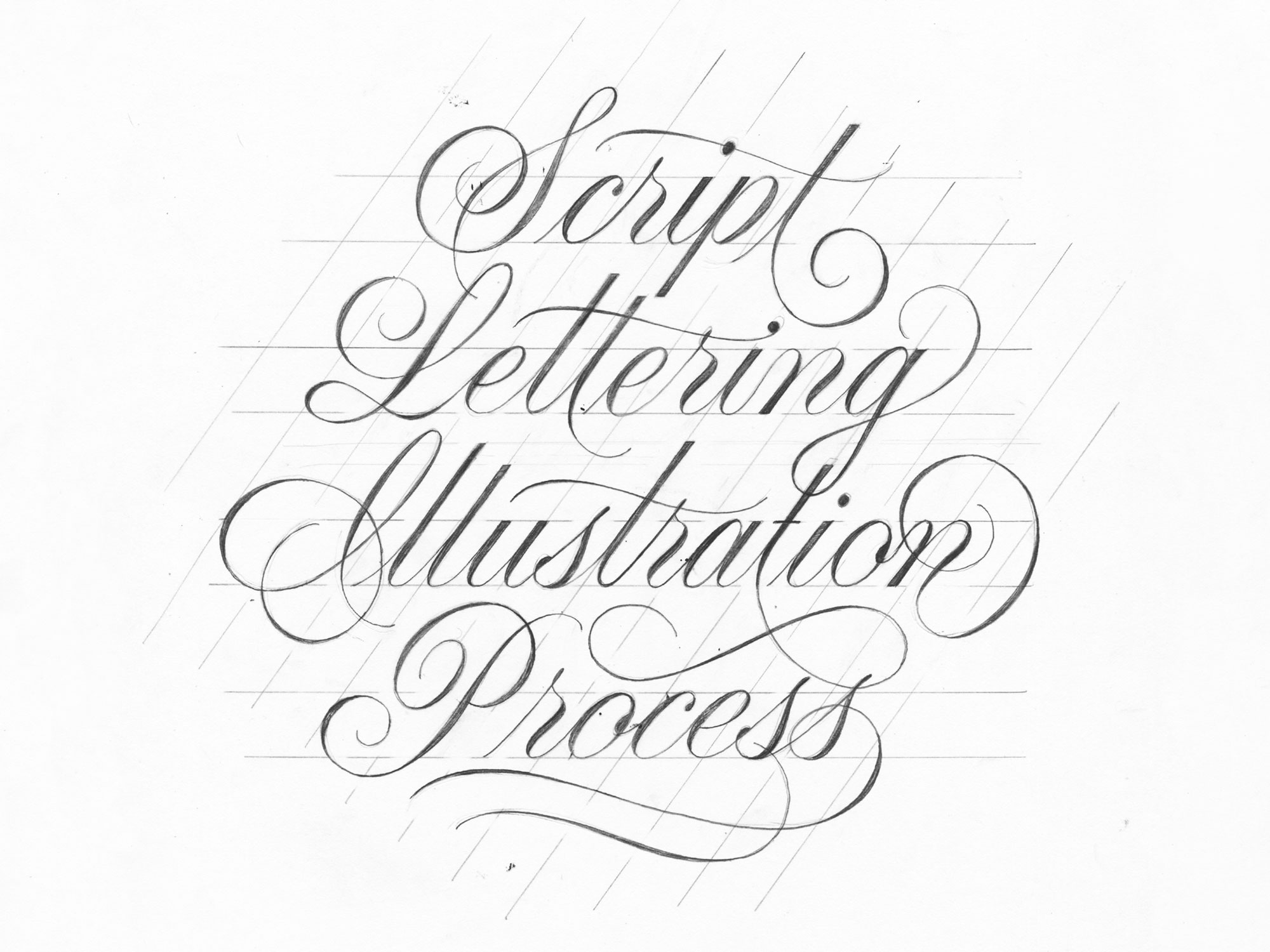 2000x1500 Script Lettering Illustration Process Pies Brand