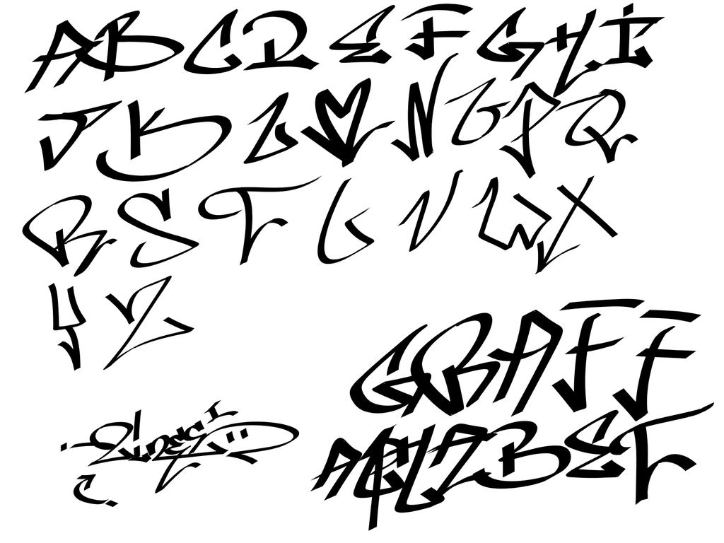 1024x768 Gangster Drawings Alphabet Gangster Letters Drawings How To Draw
