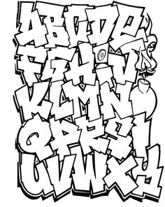 Letters Of The Alphabet In Graffiti Drawing