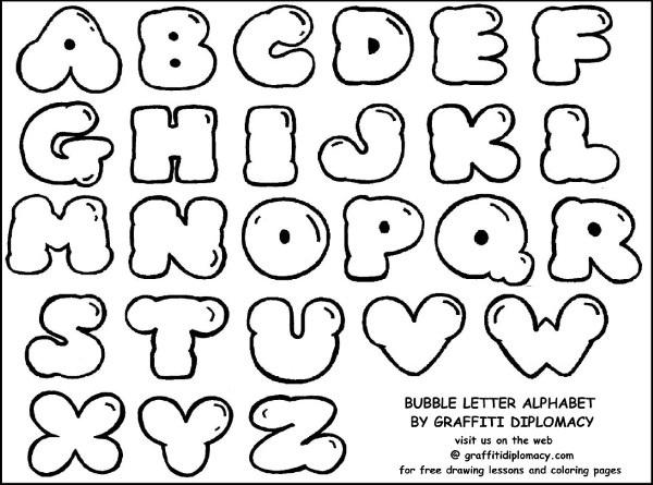 600x445 Graffiti Block Letters Alphabet Letters