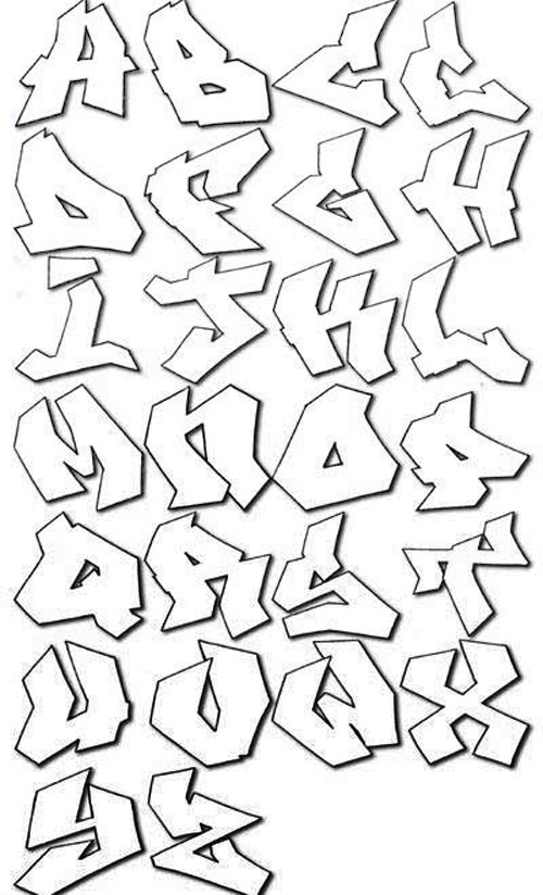 Letters Of The Alphabet In Graffiti Drawing At Getdrawings Com