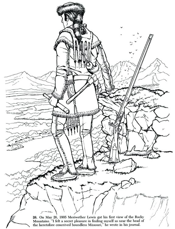 575x749 Lewis And Clark Coloring Pages Synthesis.site