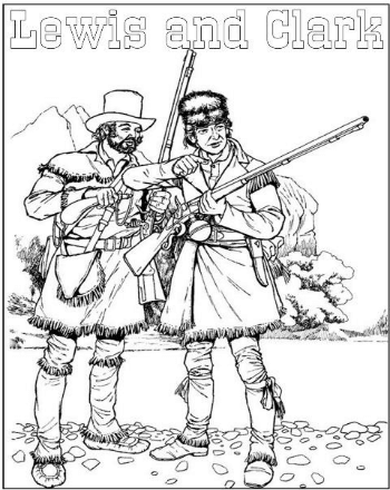 350x440 Lewis And Clark Coloring Book Lewis And Clark Activity Sheets