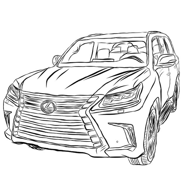 Lexus Drawing At Getdrawings Com