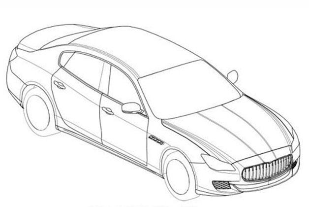628x420 2014 Maserati Quattroporte Revealed In Patent Drawings