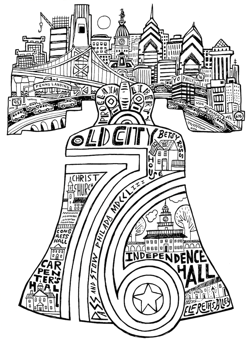 954x1291 Liberty Bell Paul Carpenter Illustration