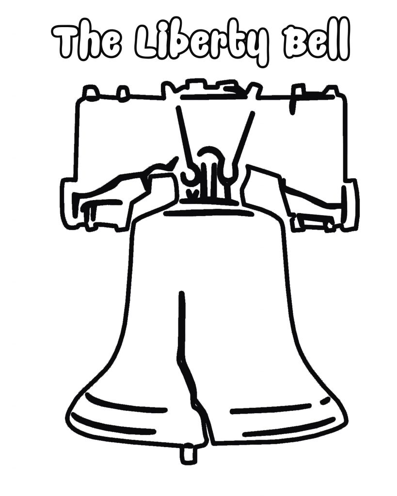 819x1024 Liberty Bell Coloring Page