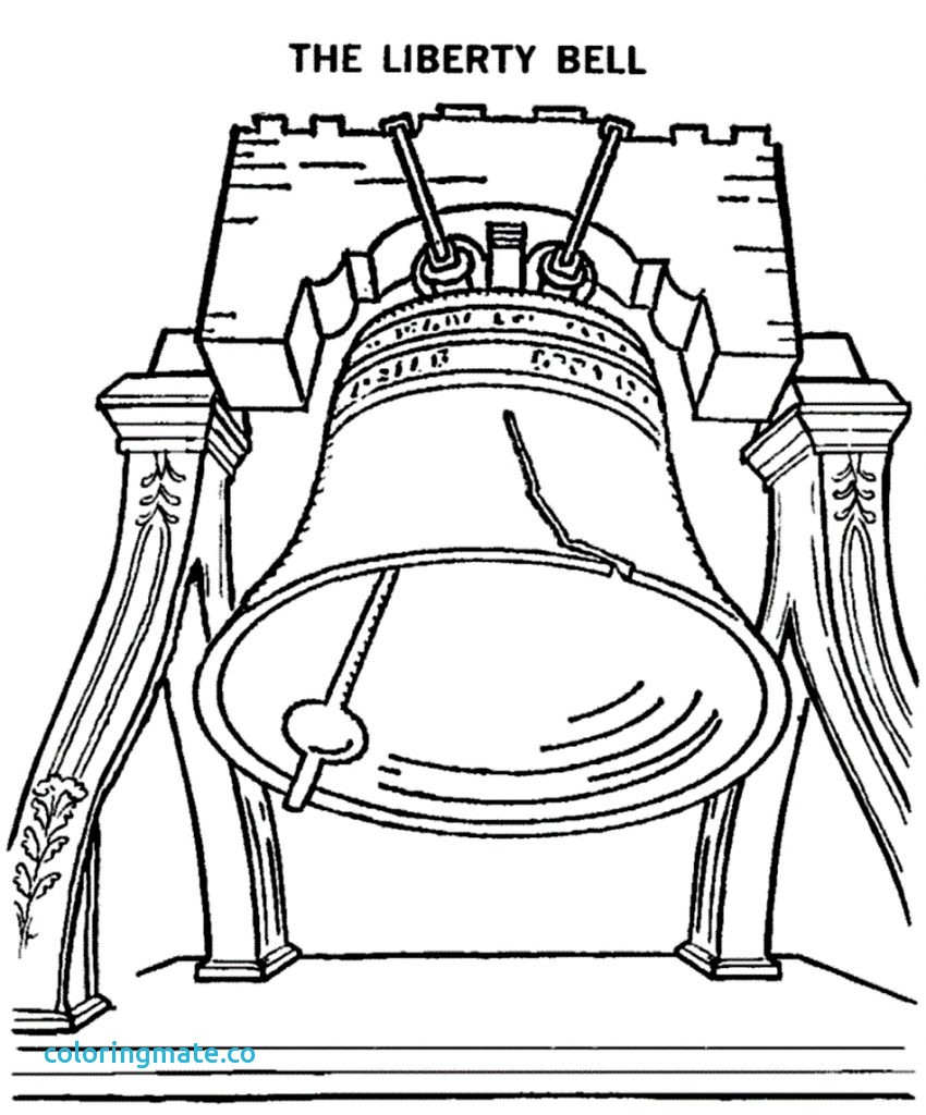 850x1024 Liberty Bell Coloring Page Best Of Sketch Of Liberty Bell Coloring
