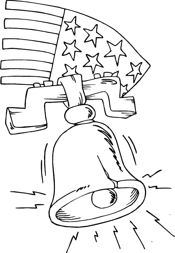600x865 Liberty Bell Ringing Coloring Pages Batch Coloring
