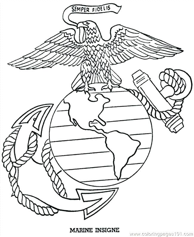 650x795 Marine Coloring Page Marine Drawing To Print Flags Bald Eagle