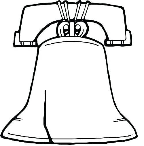 500x508 Bell Coloring Page