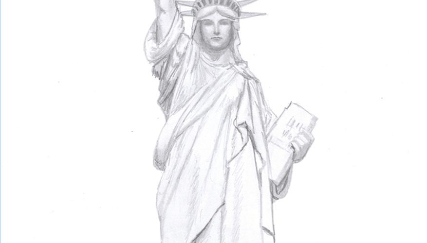 877x500 How To Draw The Statue Of Liberty Our Pastimes