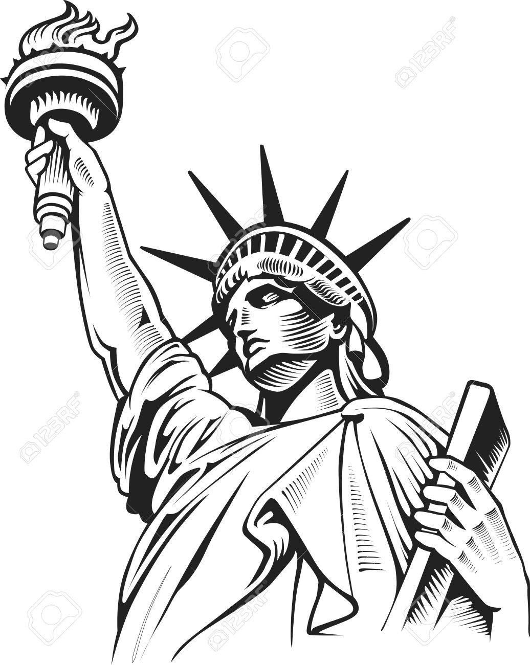 1036x1300 Liberty Statue, New York, Usa Royalty Free Cliparts, Vectors,