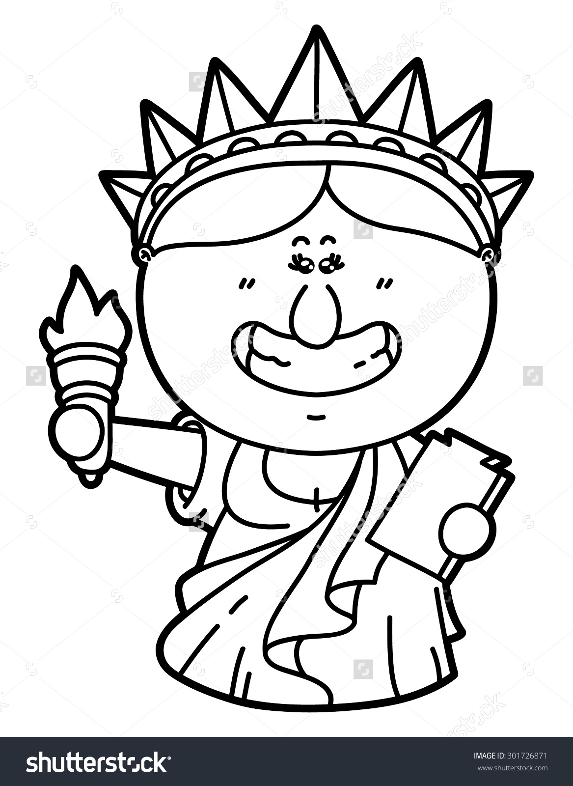 1167x1600 Statue Of Liberty Cartoon Drawing Funny Statue Liberty Vector