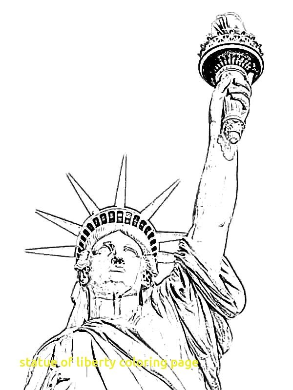 600x800 Statue Liberty Coloring Page With Grover Cleveland In Statue