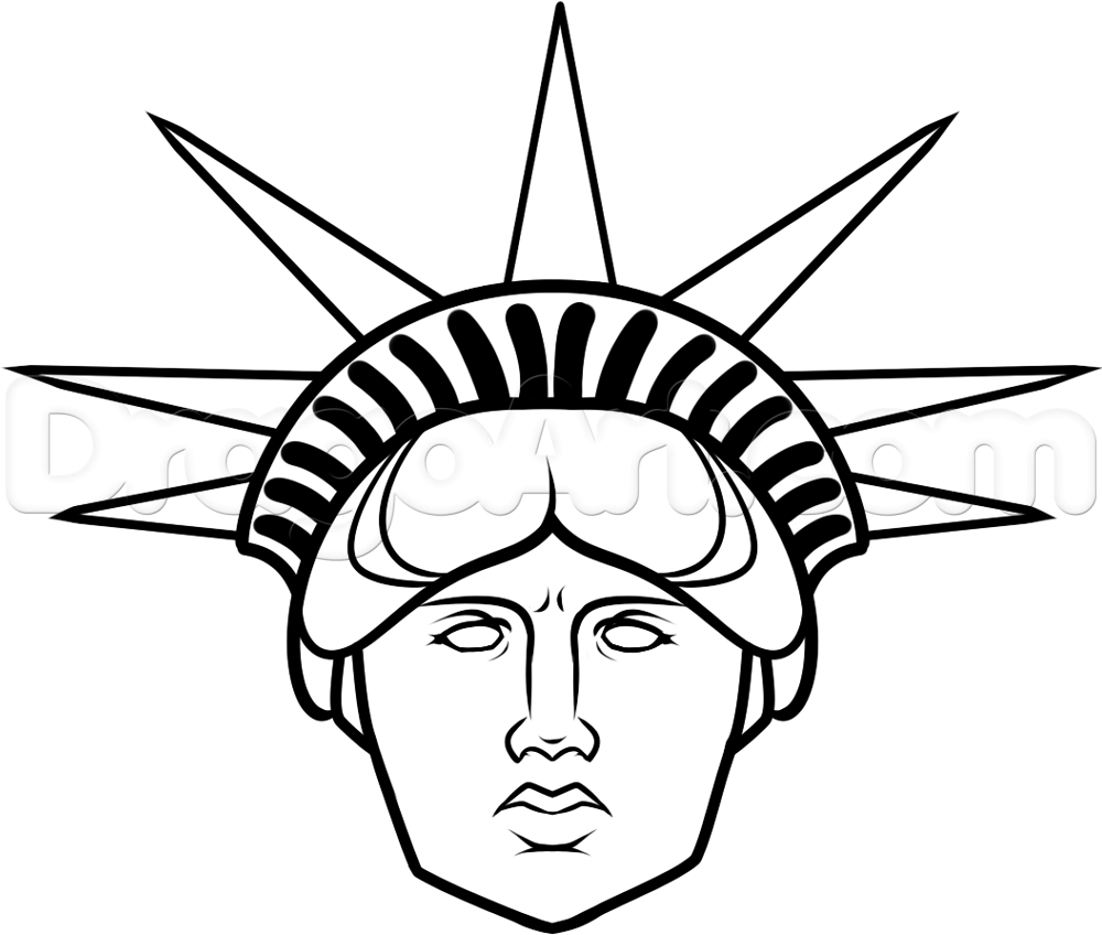 1000x848 Statue Of Liberty Drawing Easy How To Draw Statue Of Liberty Face