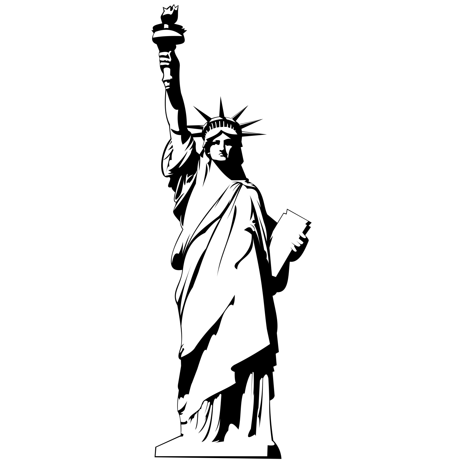 Liberty statue drawing at free for for Statue of liberty drawing template