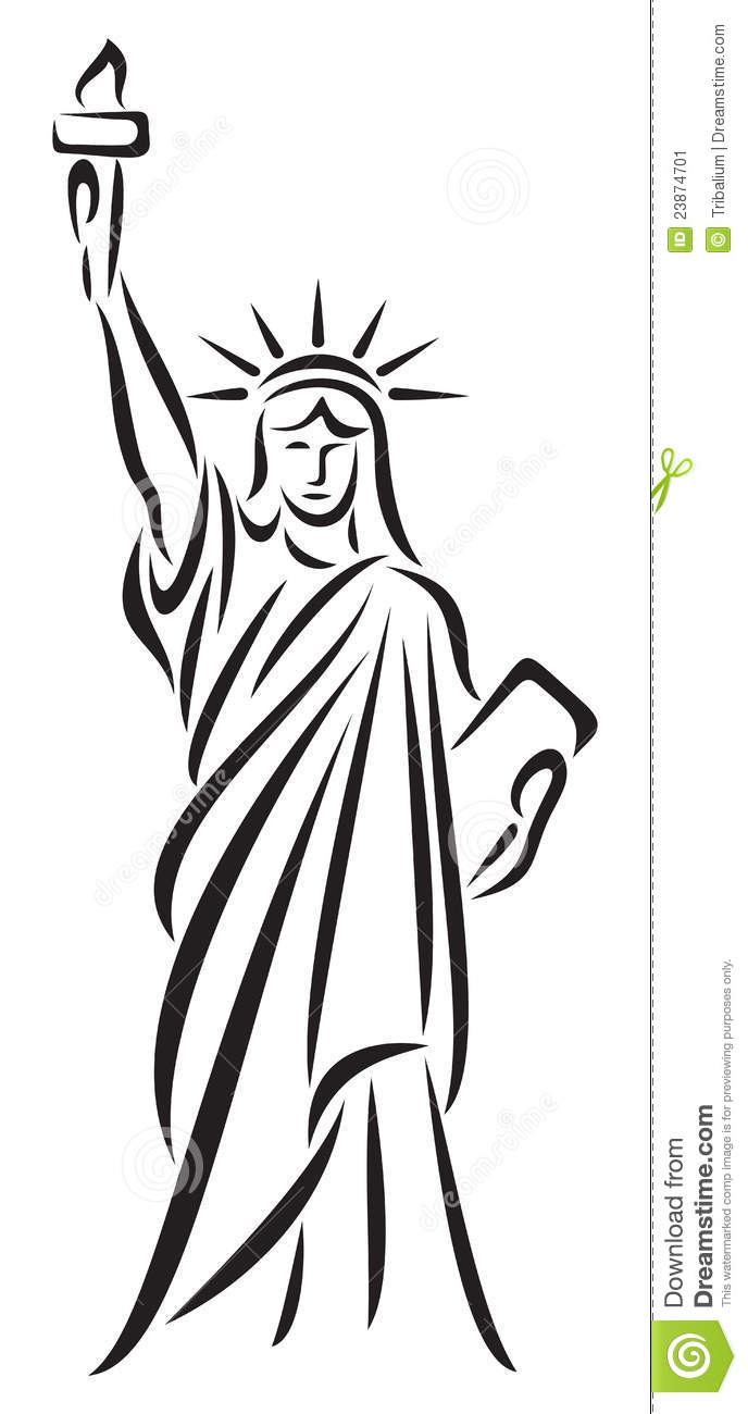 688x1300 Statue Of Liberty Drawings Statue Of Liberty Drawing Easy