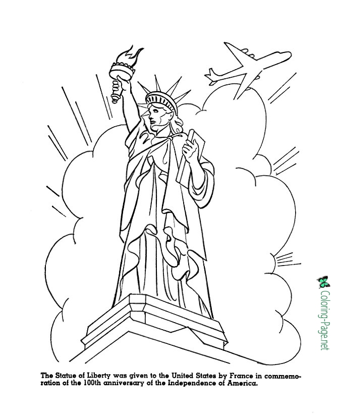 670x820 Statue Of Liberty Coloring Pages