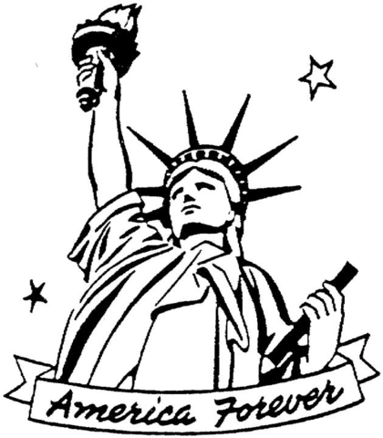 420x480 The Statue Of Liberty Coloring Page Free Printable Coloring Pages