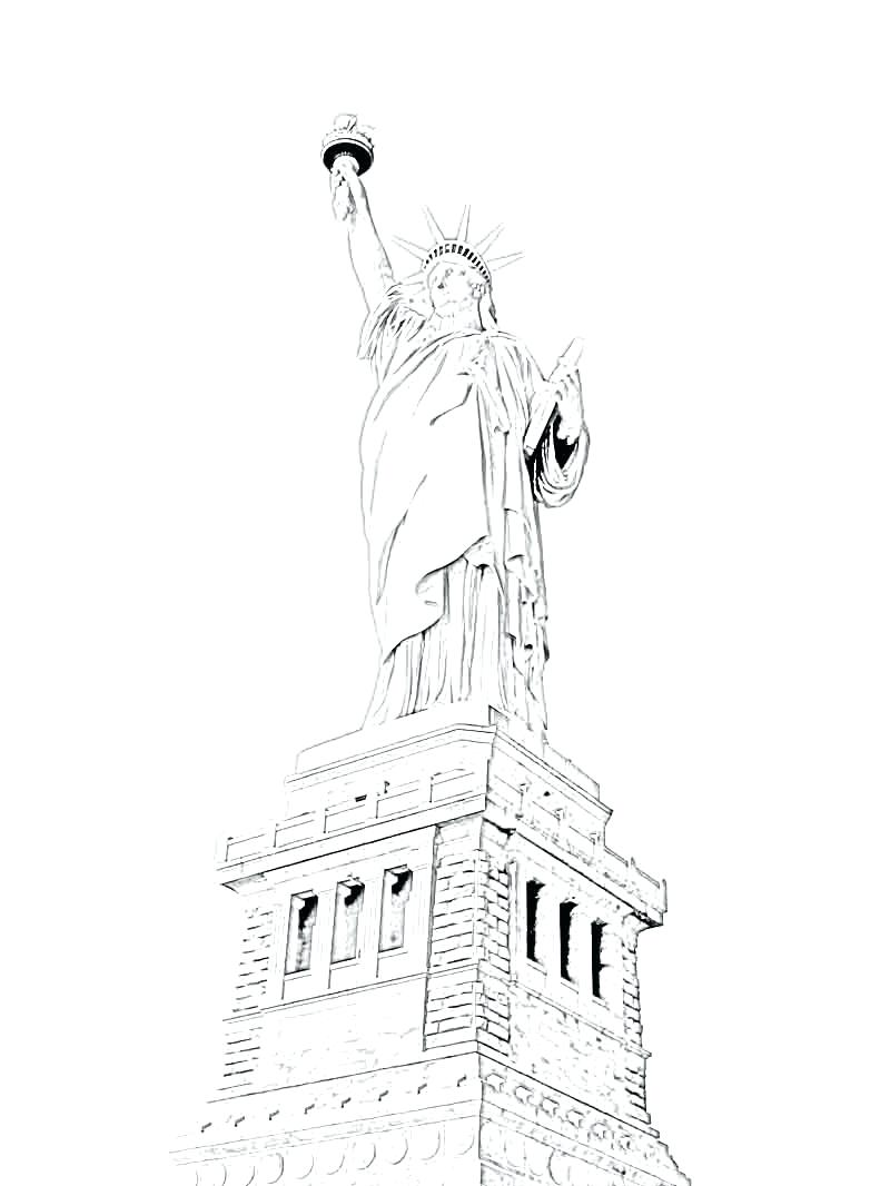 800x1066 Coloring Statue Of Liberty Coloring Page Projects Idea Pages