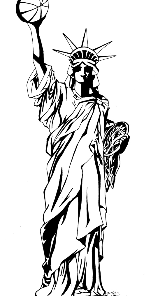 549x1016 Commission Statue Of Liberty By Ritzwill