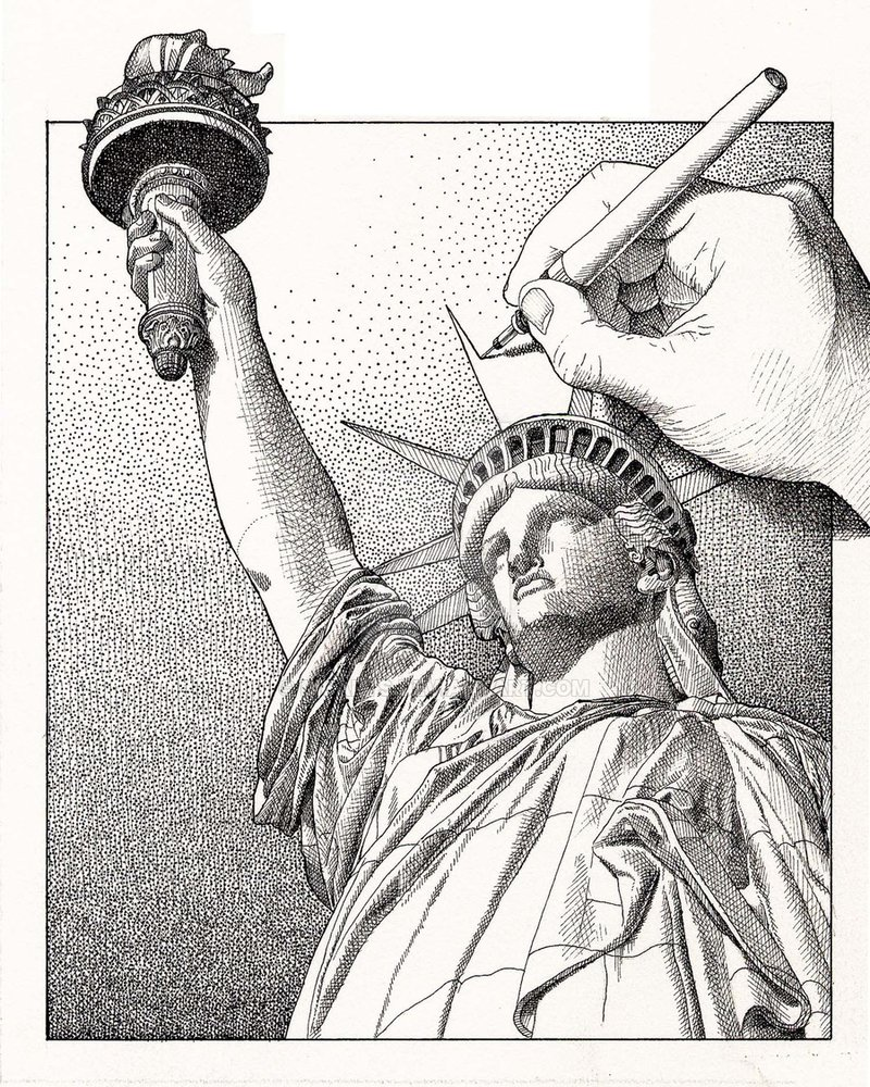 800x1000 Drawing Statue Of Liberty By Dicarts