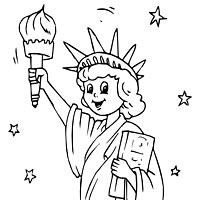 200x200 Drawn Statue Of Liberty Coloring Page