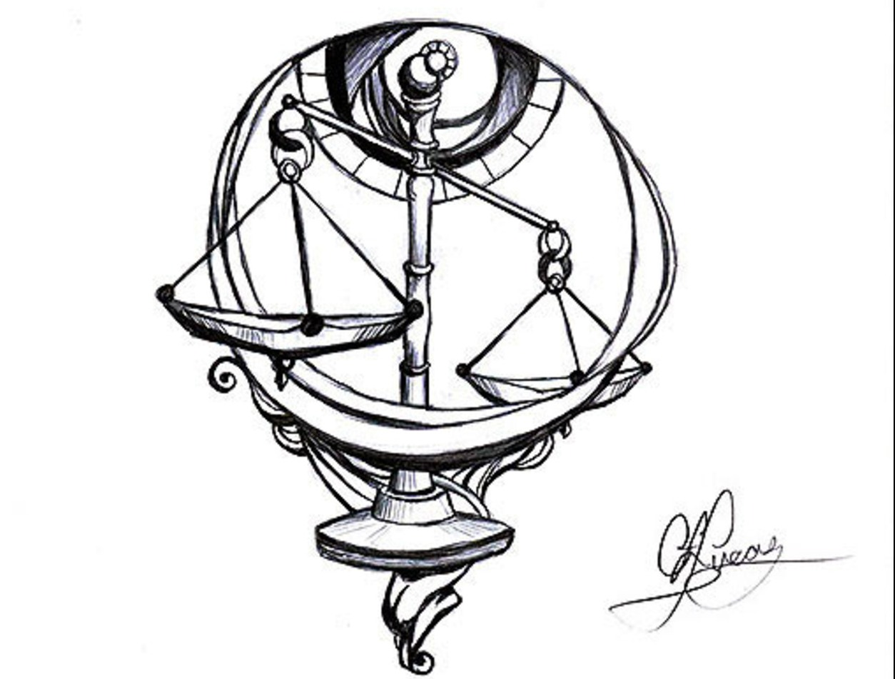 1254x951 Libra Scales Tattoo Page Tattoos Libra Scale