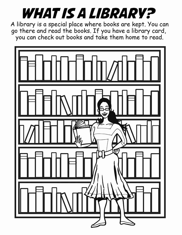 618x800 Library Coloring Pages Photos Building